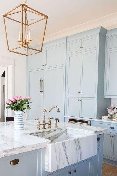 blue cabinet 3 454x684 - طراحی کابینت آشپزخانه