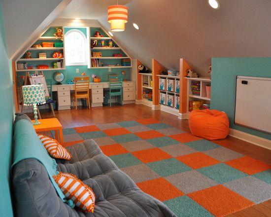 نارنجی در طراحی ذاخلی خانه کوچک