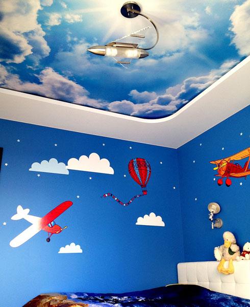 baby room cloud - تزیین سقف اتاق کودک