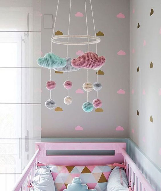 baby room moveable - تزیین سقف اتاق کودک