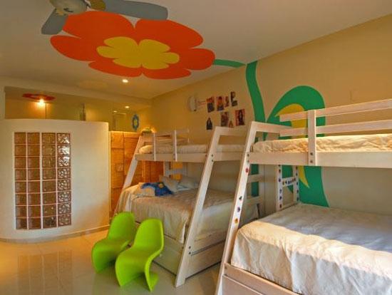 baby room orange - تزیین سقف اتاق کودک