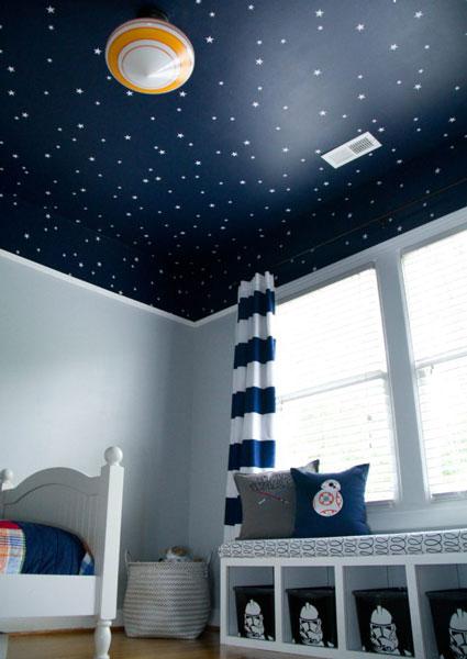 baby room stars - تزیین سقف اتاق کودک