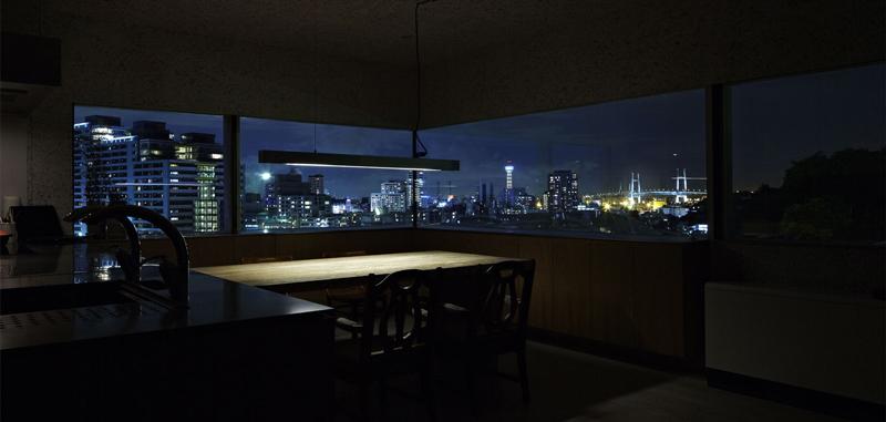 نورپردازی ساختمان شب داخلی