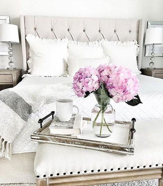 flower in bedroom - 8 روش جذاب برای استفاده از گل در محیط داخل خانه