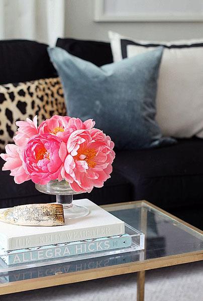 flower in home 4 - 8 روش جذاب برای استفاده از گل در محیط داخل خانه