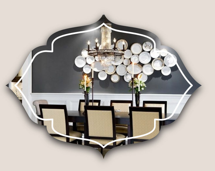 decoration on dining wall - ویژگی های دکوراسیون مناسب برای دیوار اتاق ناهارخوری