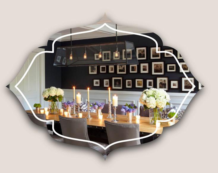 dinning room walls - ویژگی های دکوراسیون مناسب برای دیوار اتاق ناهارخوری