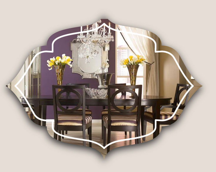 mirors in dining room - ویژگی های دکوراسیون مناسب برای دیوار اتاق ناهارخوری