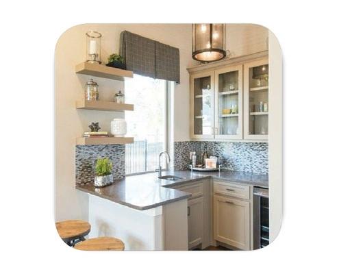 small kitchen shakhes resize 495x400 - دکوراسیون داخلی منزل