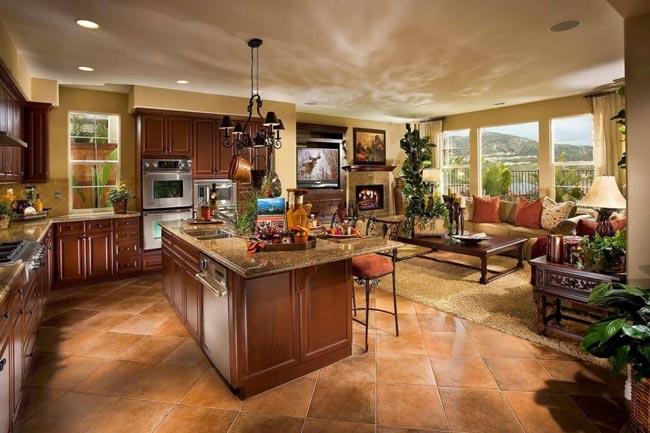 unique living room open floor plan - نکاتی در مورد دکوراسیون اتاق نشیمنِ دارای پلانِ باز