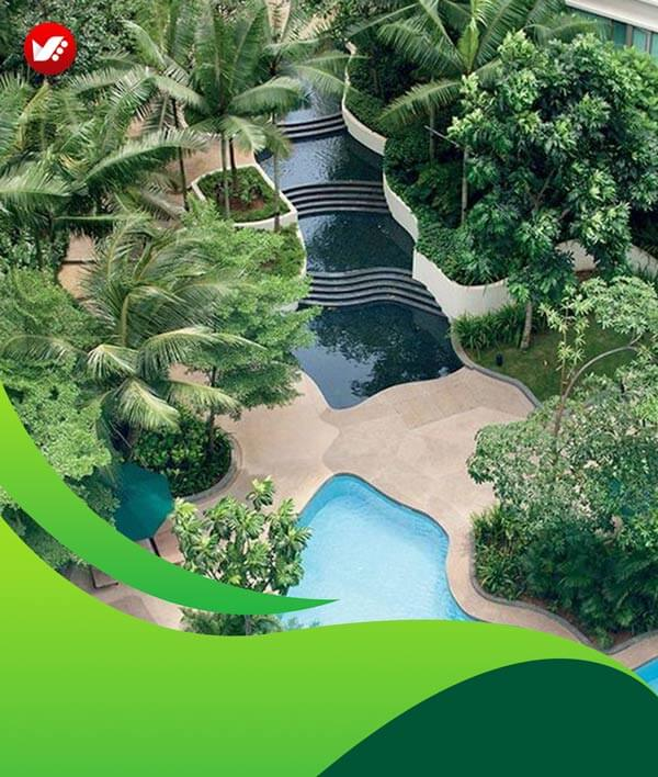 lanscape design 129 - طراحی لند اسکیپ برای باغ و فضاهای سبز مسکونی