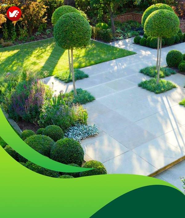 lanscape design 133 - طراحی لند اسکیپ برای باغ و فضاهای سبز مسکونی