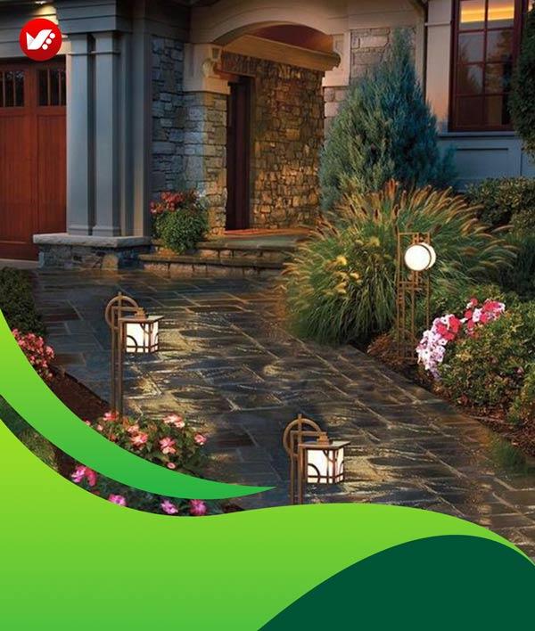 lanscape design 134 - طراحی لند اسکیپ برای باغ و فضاهای سبز مسکونی