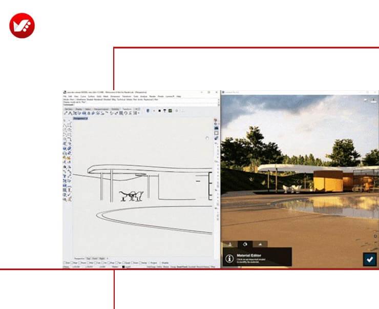 LiveSync For Rhino 02 - LiveSync For Rhino رابطی برای راینو و لومیون